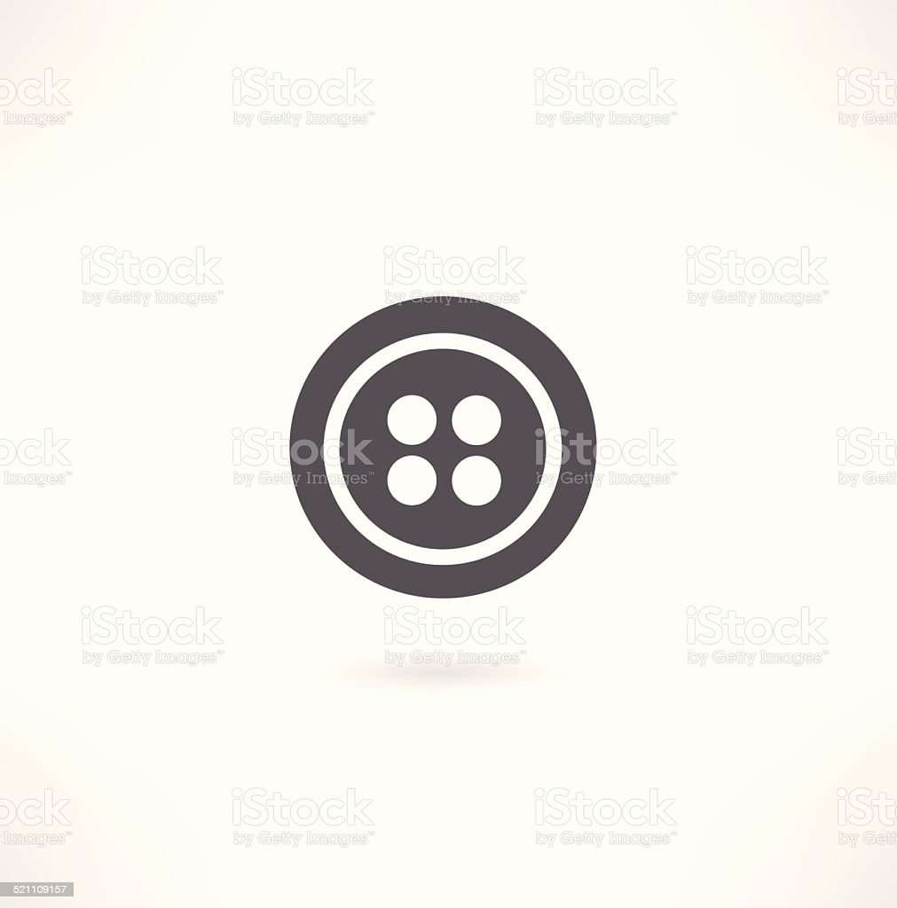 Button icon for clothes vector art illustration