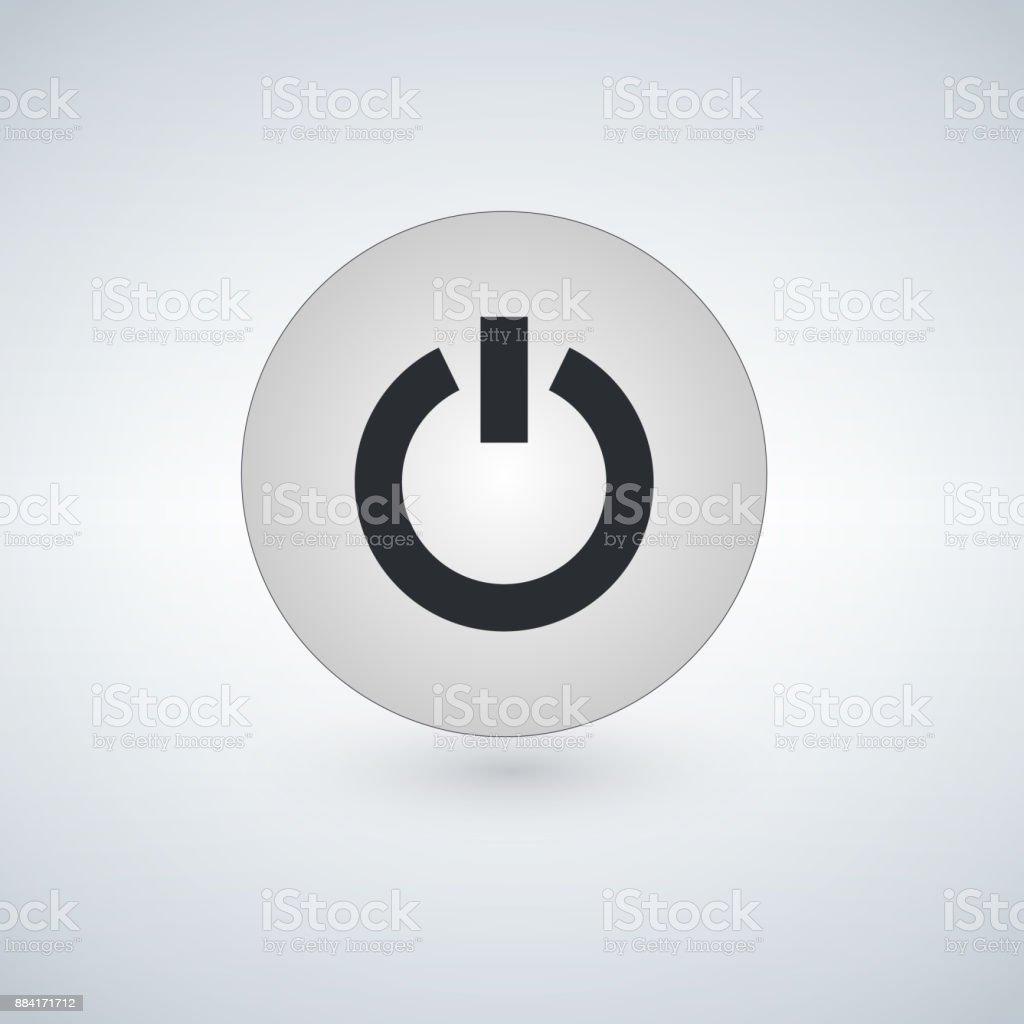 Taste Symbol Macht Start Vektor Schließen Computer Design Energie ...