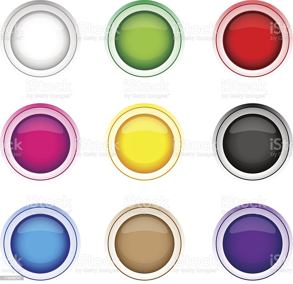 Button icon set royalty-free button icon set stock vector art & more images of abstract
