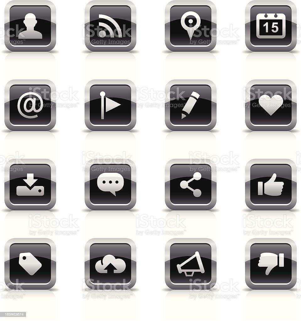 Button & Icons Set | Social Media royalty-free stock vector art