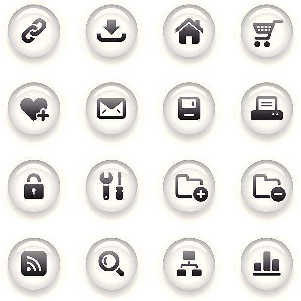 버튼 아이콘 세트/웹 & 인터넷 - home icon stock illustrations