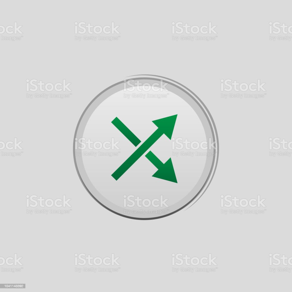 Button Intersecting Lines Colored Icon Element Of Player Buttons For