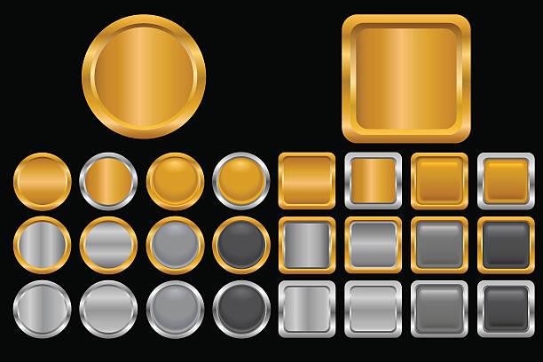 Button Set vector art illustration