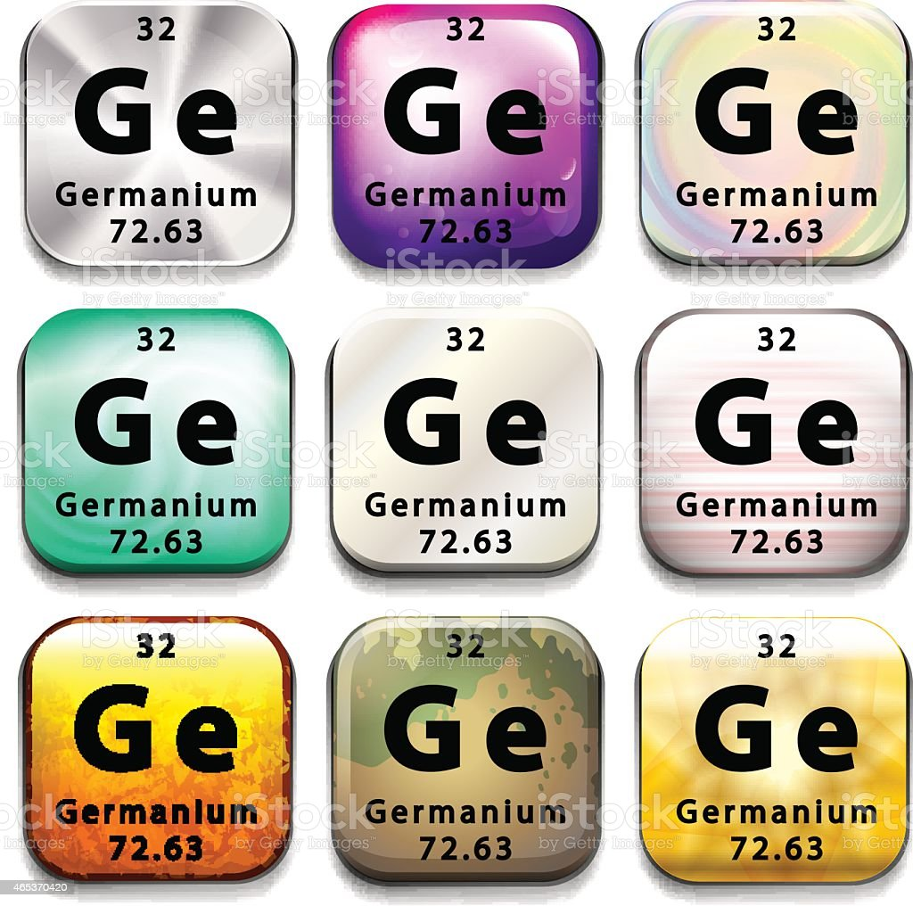 Button showing the chemical element Germanium vector art illustration