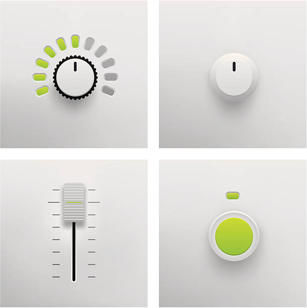 Button, Slider and Fader Vector Button, Slider and Fader Vector in Vector Format. Adobe Illustrator EPS 8 and JPG File. See More... knob stock illustrations