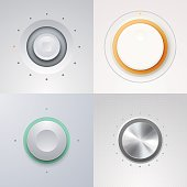 Switch, and detailed control knobs with circular processing.