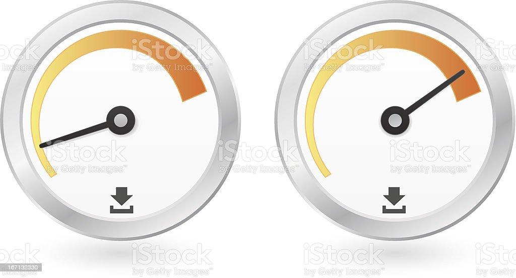 Button speedometer royalty-free stock vector art