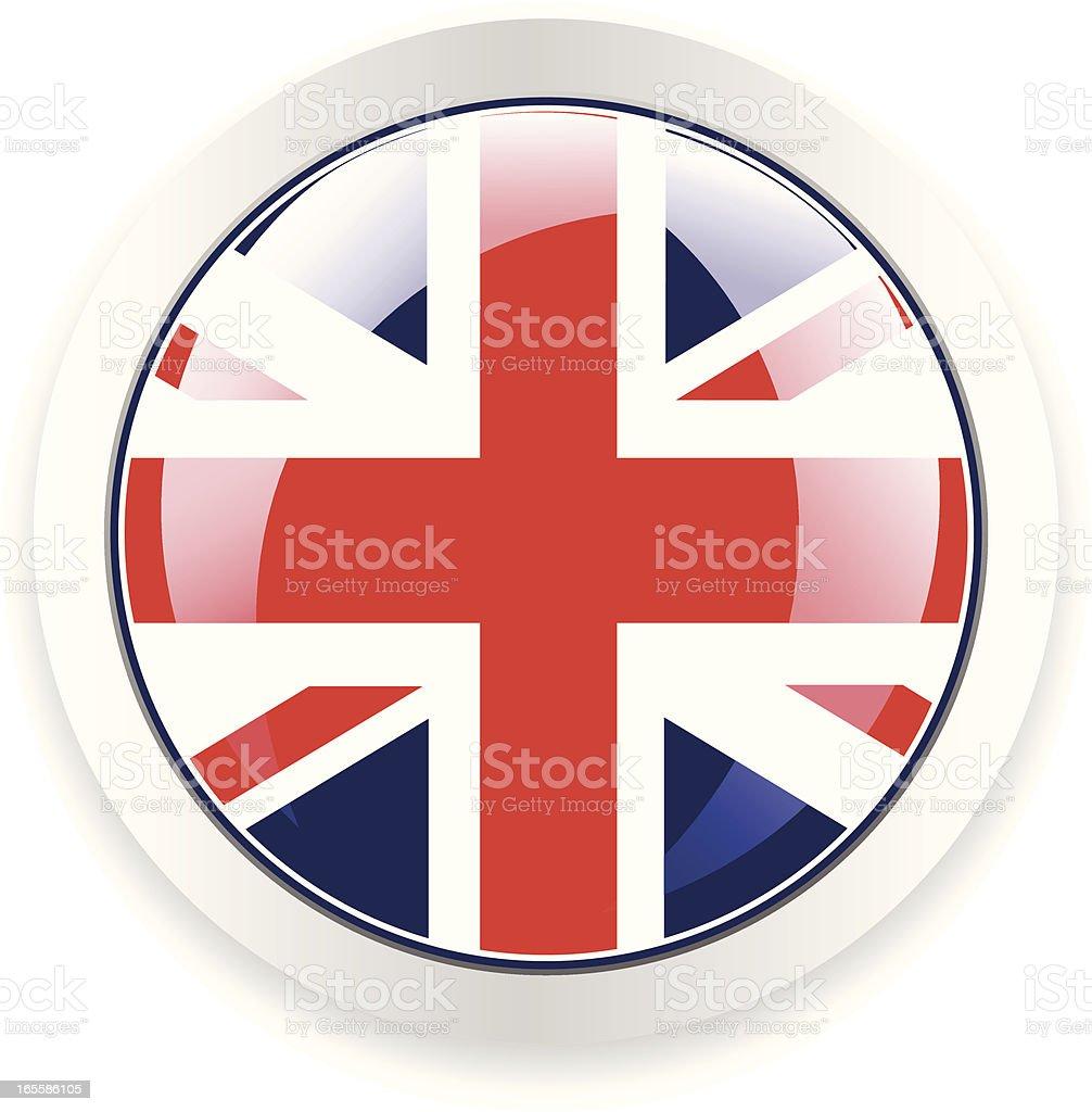 UK Button vector art illustration