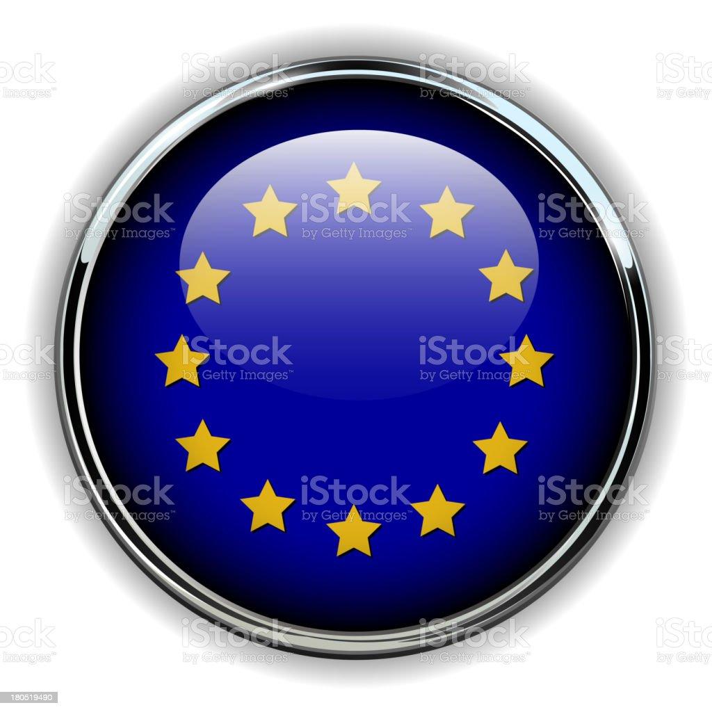 EU button royalty-free stock vector art