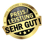 Button with Banner price-performance very good (text in german)