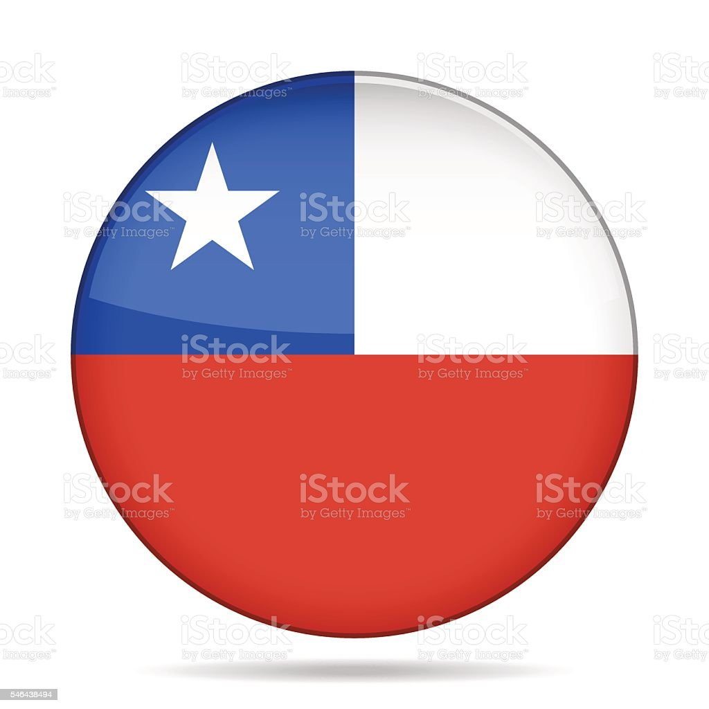 button with flag of Chile – Vektorgrafik