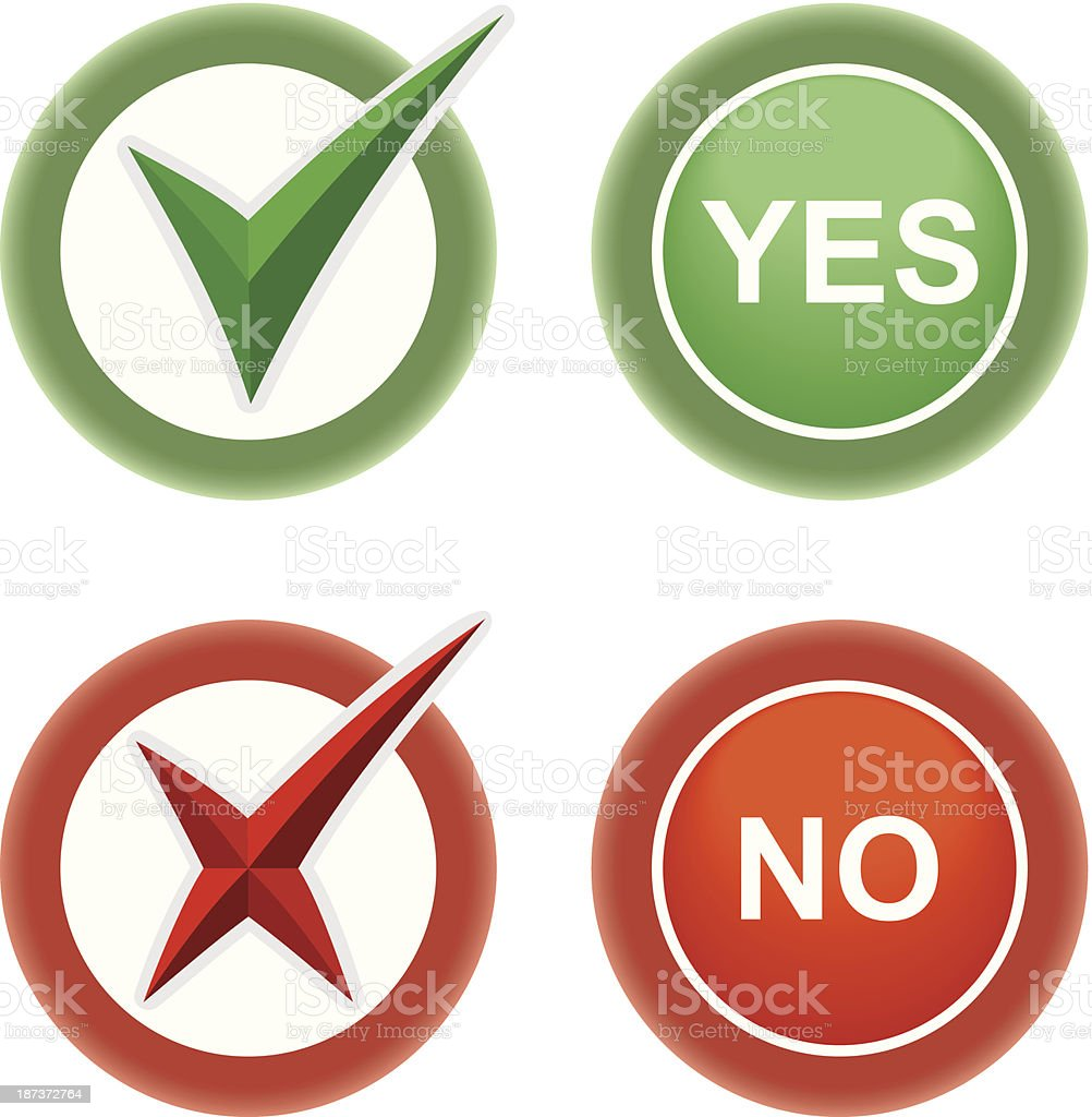 Button Yes and No royalty-free button yes and no stock vector art & more images of agreement