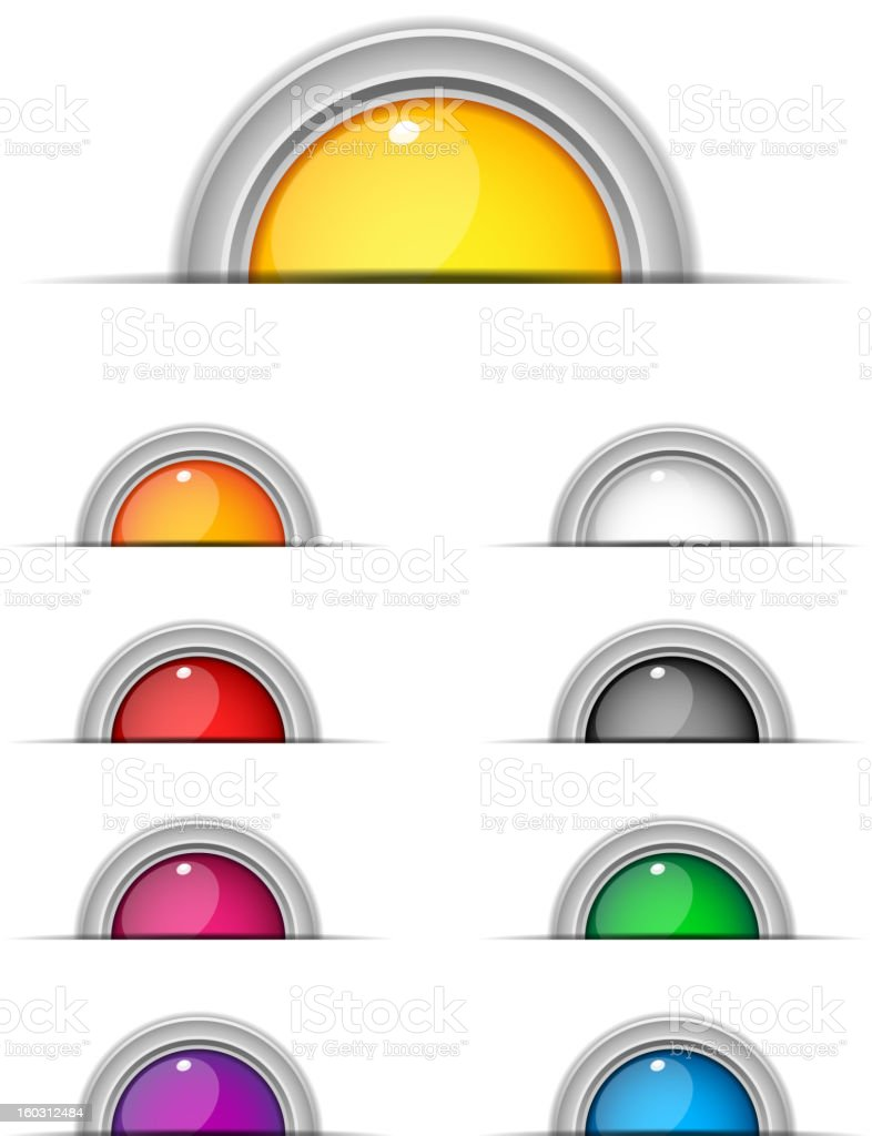 Buttons Colors Web royalty-free stock vector art