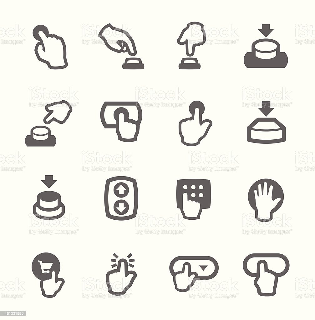 Buttons icons vector art illustration