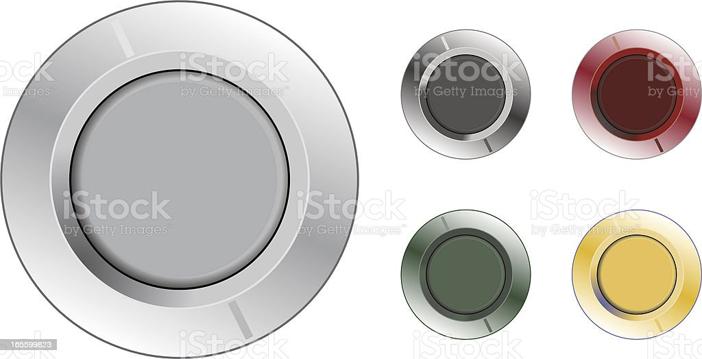 Buttons or Knobs royalty-free stock vector art