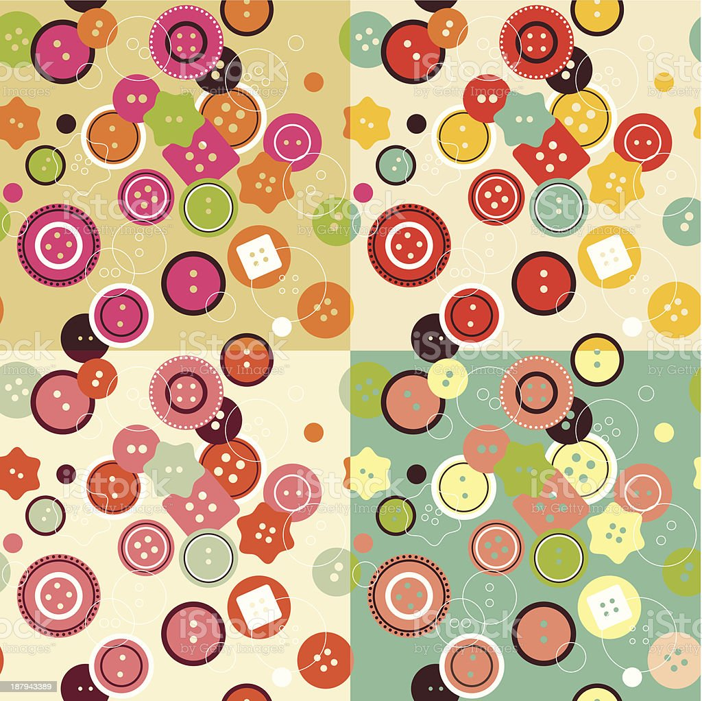 Buttons seamless pattern royalty-free buttons seamless pattern stock vector art & more images of abstract