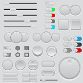 Buttons set. Web interface icons