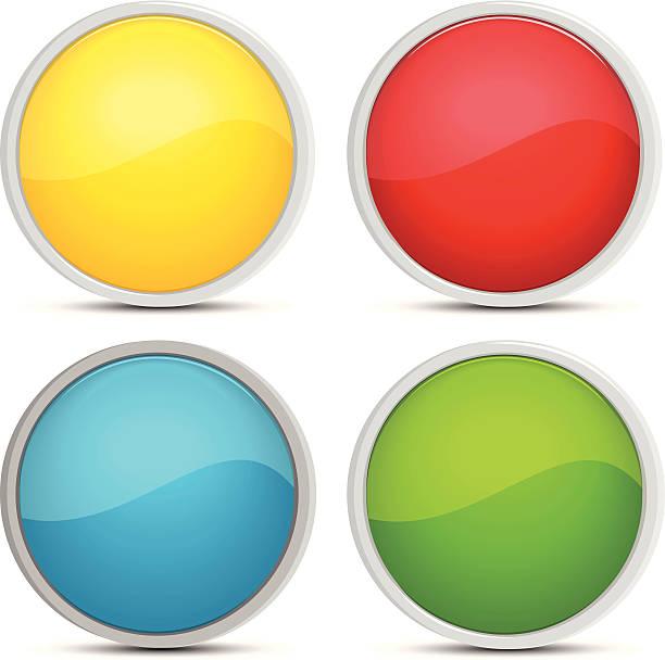 stockillustraties, clipart, cartoons en iconen met buttons - wegkijken