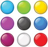 Vector colorful buttons set.