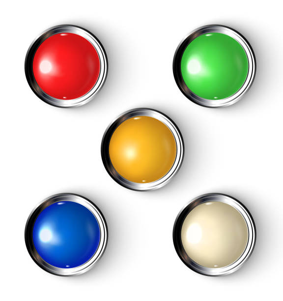 Buttons with indicator. vector art illustration