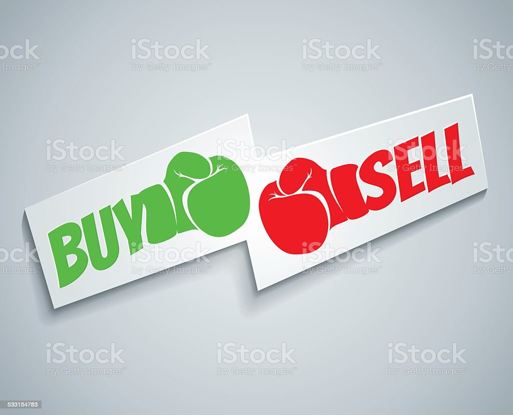 Buy and sell vector art illustration