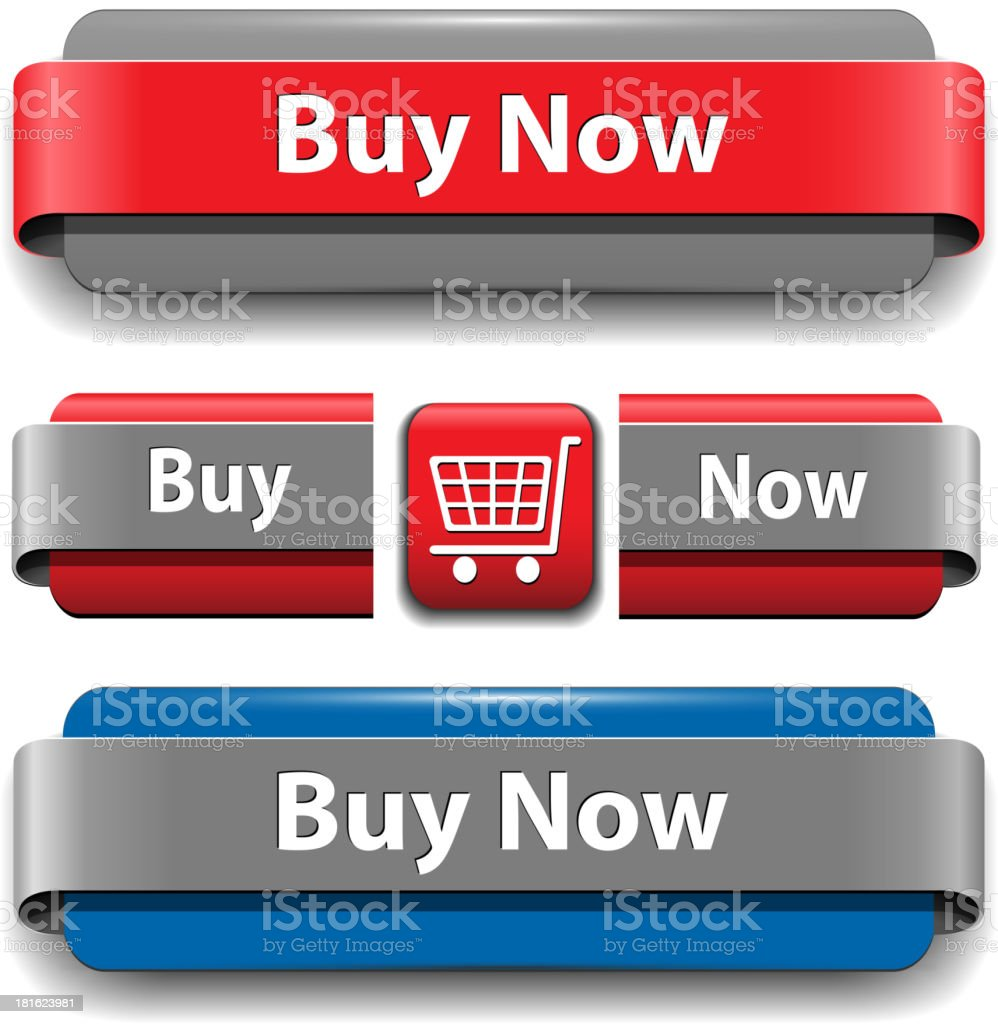 Buy buttons royalty-free stock vector art