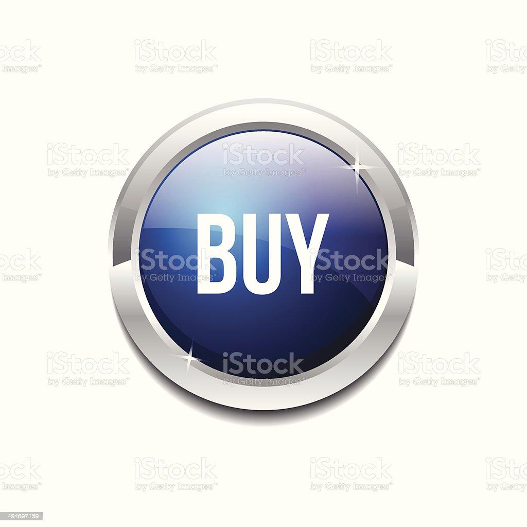 Buy Circular Vector Blue Web Icon Button royalty-free buy circular vector blue web icon button stock vector art & more images of badge