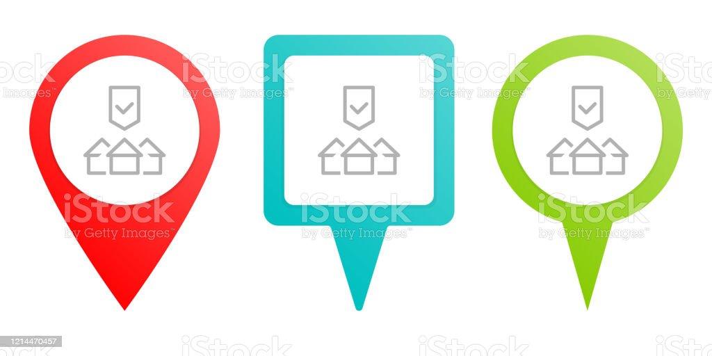 Acheter Maison Propriété Protection Icône Vectorielle