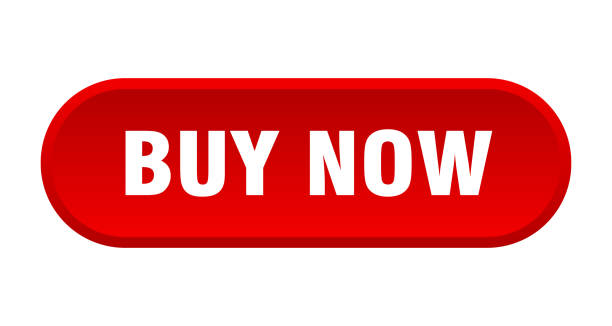 buy now button. buy now rounded red sign. buy now vector art illustration