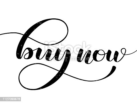 istock Buy now lettering.  Vector illustration for banner or poster 1127090678