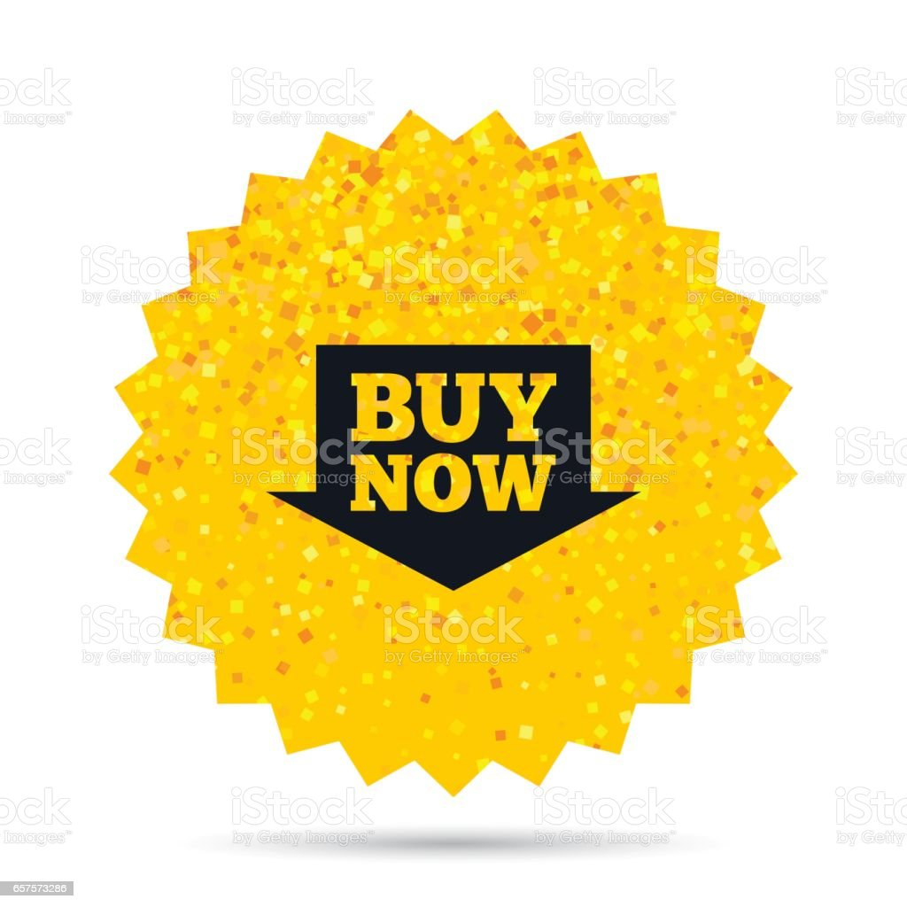 Buy now sign icon. Online buying arrow button. vector art illustration