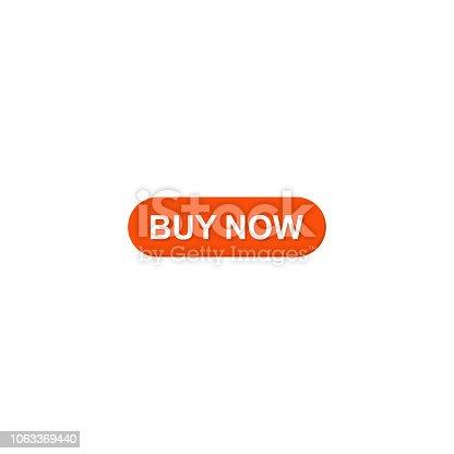 Buy now web banner. Vector icon Flat design
