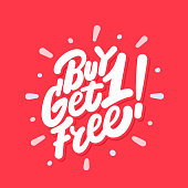 istock Buy one get one free. Vector icon. 1266806155
