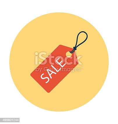 istock Buy Sticker Colored Vector Illustration 495601244