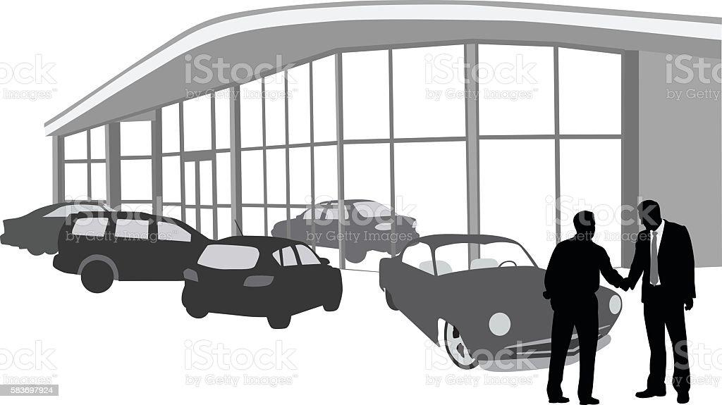 Buying A Car At The Dealership – Vektorgrafik