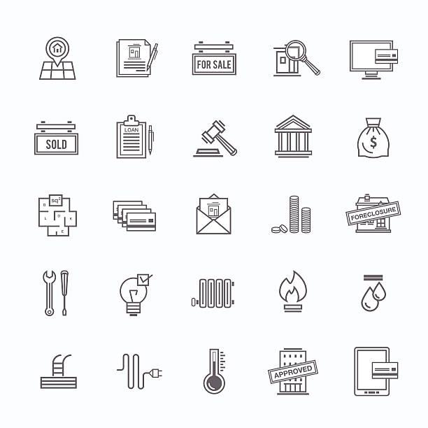 Comprar un marco conjunto de iconos de casa - ilustración de arte vectorial