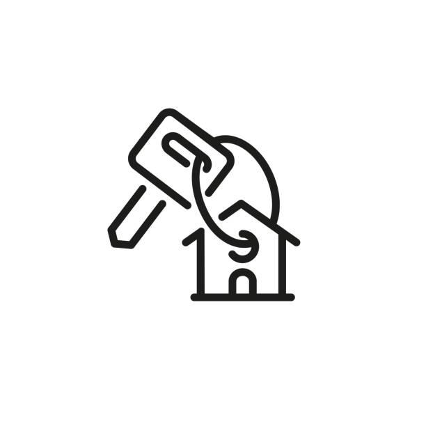 ilustrações, clipart, desenhos animados e ícones de ícone de casa compra - casa nova