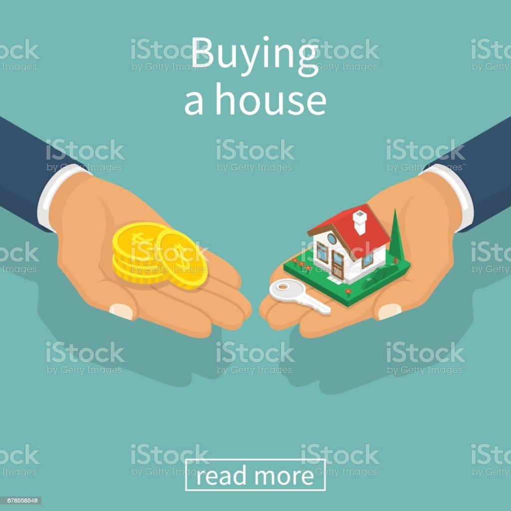 Vector de casa compra - ilustración de arte vectorial