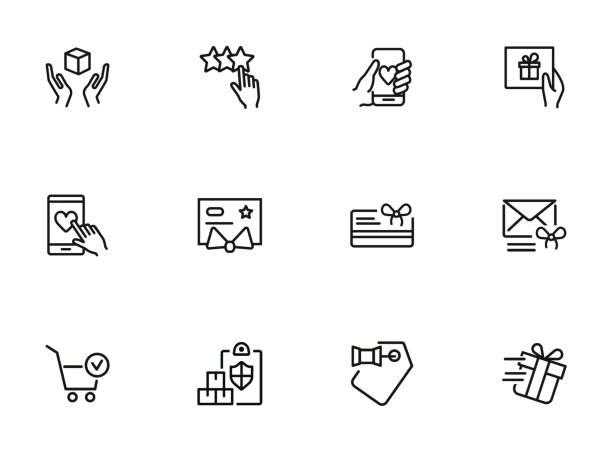 illustrazioni stock, clip art, cartoni animati e icone di tendenza di buying icon set - prodotti supermercato