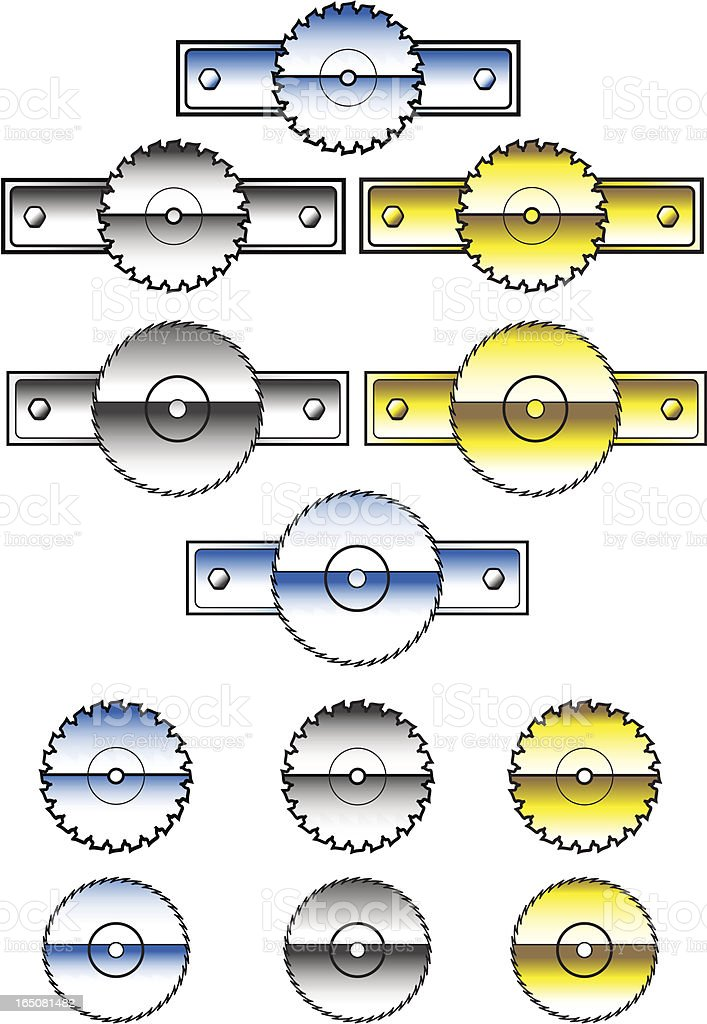 Buzz Saw Logos and Icons royalty-free buzz saw logos and icons stock vector art & more images of chrome