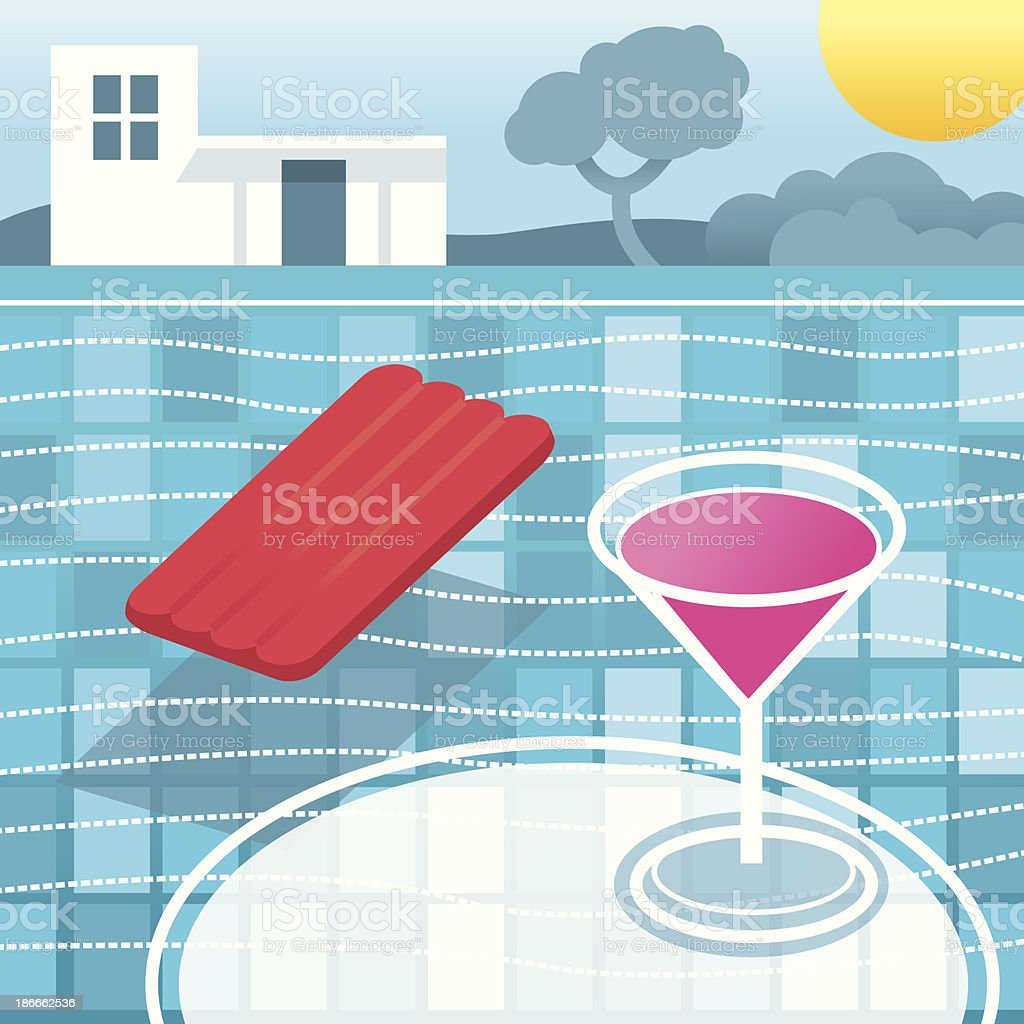 By the Pool royalty-free stock vector art