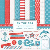 By the sea - scrapbooking kit.