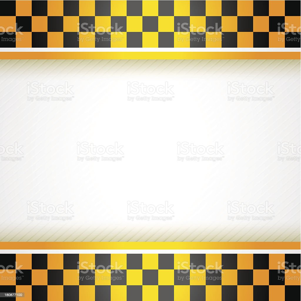 Cab background square royalty-free stock vector art