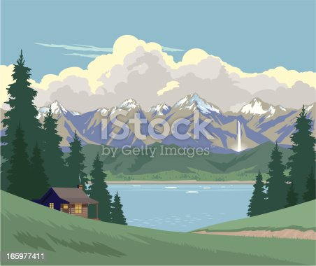 istock Cabin in the Mountains 165977411