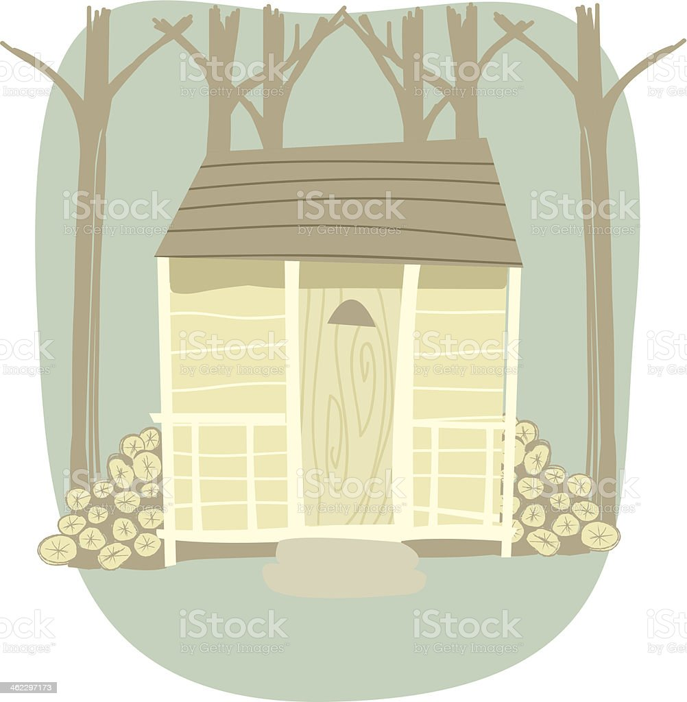 Cabin in the Woods royalty-free stock vector art