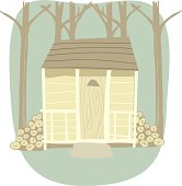 istock Cabin in the Woods 462297173