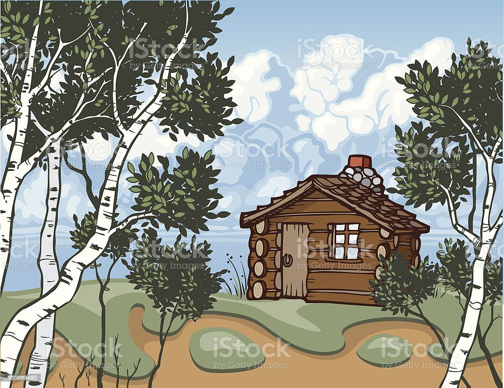 Cabin Property royalty-free cabin property stock vector art & more images of aspen tree
