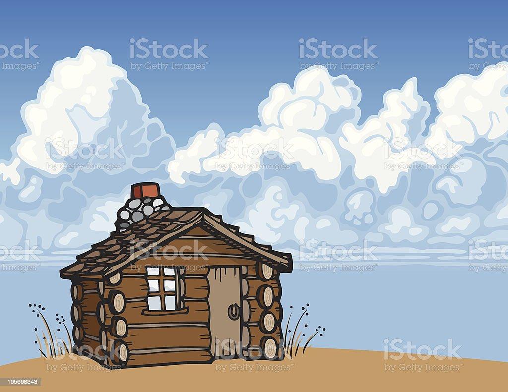 Cabin Scene royalty-free stock vector art