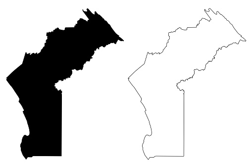 Cabinda Province map vector