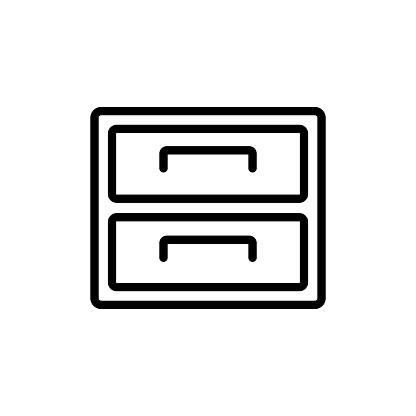 cabinet - furniture icon vector design template